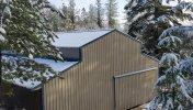 Livestock barn in snow
